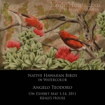 Watercolor Exhibit: Native Birds by Angelo Teodoro