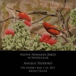 Watercolor Exhibit: Native Birds by Angelo Teodoro